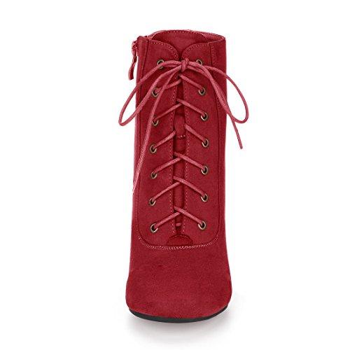 Allegra K, Damen Stiefel & Stiefeletten Red-3 3/8 inches