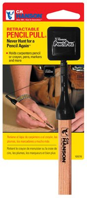 Hanson Carpenter Pencil - Pencil Pull, Retractable Pencil Holder