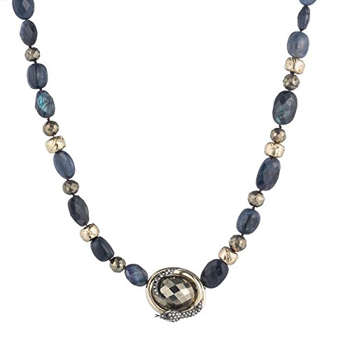 Alexis Bittar Coiled Snake Beaded Pendant Necklace, 10K Gold ()