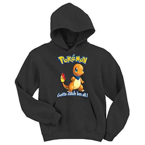 Charmander Hoodie (OCPrintShirts® Unisex Hoodie Charmander Pokemon Charcoal 3XL)