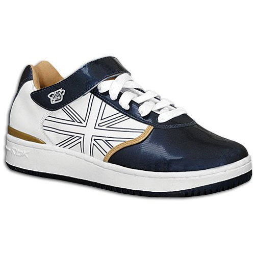Reebok Mens Derrty One Sneaker White/Blue Gold FRglipyy