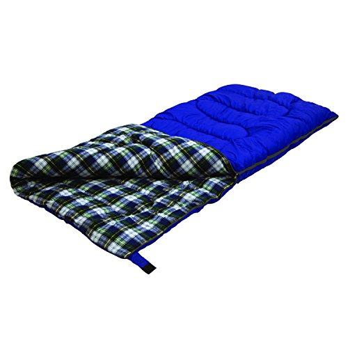Stansport Prospector 5 Lb. Rectangular Sleeping Bag, 75 x 33 – Cobalt Blue