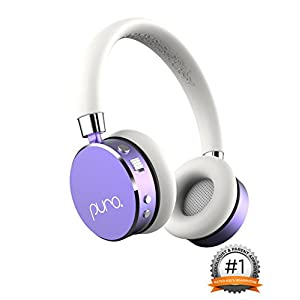 Puro Sound Labs BT2200 On-Ear Headphones Lightweight Portable Kids Earphones with Safe Wireless, Volume Limiting, Bluetooth and Noise Isolation for Smartphones/PC/Tablet – BT2200 Purple