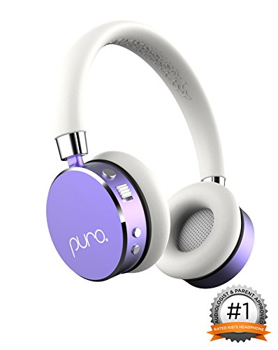 Puro Sound Labs BT2200 Over-Ear Headphones Lightweight Portable Kids Earphones with Safe Wireless, Volume Limiting, Bluetooth and Noise Isolation for iPhone/Android/PC/Tablet – BT2200 Purple