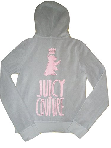 Juicy Couture Clothing Track Jackets (Juicy Couture Velour Track Jacket Hoodie Sketch Gray L)