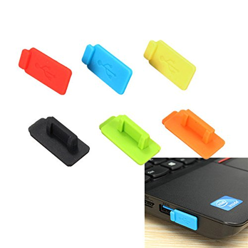 ANDROSET Rubber Silicon Protective Dustproof USB Plug Cover Stopper for PC TV Box Computer Laptop