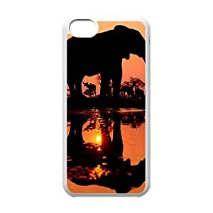 Hjqi - Personalized Elephant Cell Phone Case, Elephant Customized Case for iPhone 5C