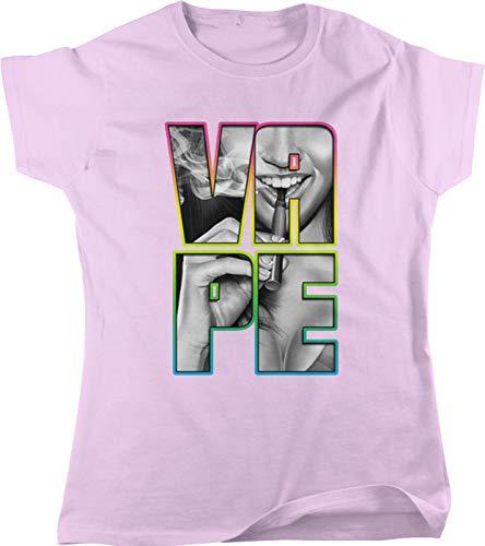 Hoodteez Vape Girl, Vaping Women's T-Shirt, S - Ohm Vape Coils Sub