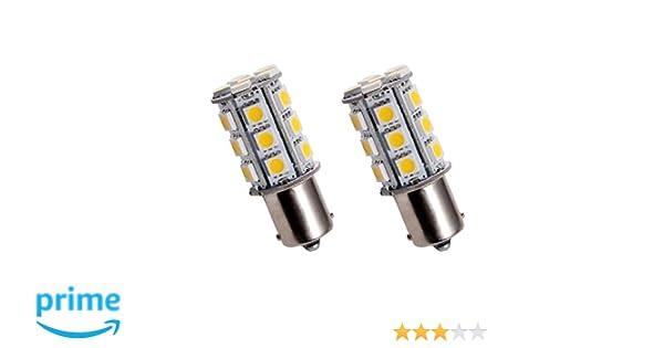 BAU15S24Y - PY21W SMD LED parpadeante bombilla, Intermitentes, señal de vuelta, flash, indicadores, lámpara, bombilla, Iluminación BAU15S 12V Amarillas ...