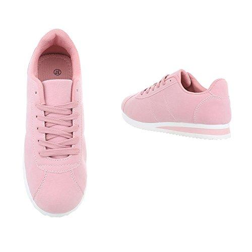 Schuhcity24 Damen Schuhe Freizeitschuhe Sneakers Sportschuhe Rosa