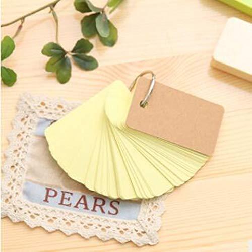 BATOP 90 Pcs Wedding Invitations Card Kraft Paper Craft Favors Decoration Christmas Birthday Gift Party Supplies (yellow)