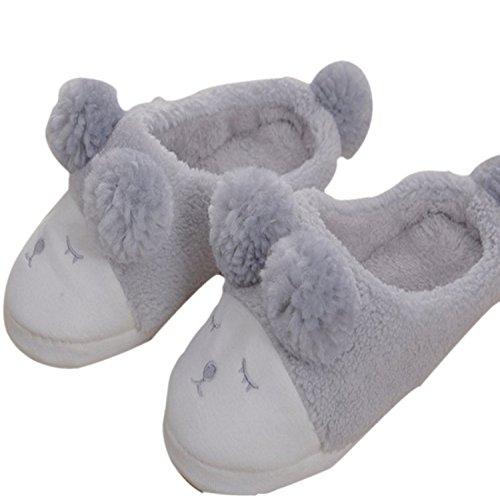 Mujer de Zapatillas para de Lindo Invierno y Chancletas Blanco Gris Zapatillas Zapatos Señoras Deporte caseros Interiores de Navidad de DANDANJIE Gris Dormitorio Animales xXfw88q