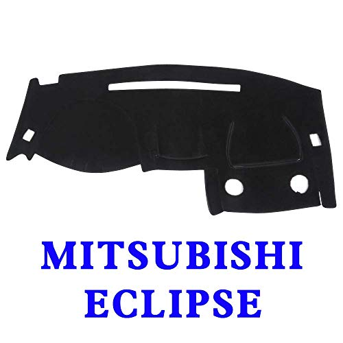 YRCP Anti-Slip Dashboard Covers Custom, Dashmat Sun Dash Cover Pad, Fits Mitsubishi Eclipse 2000-2005 (Black) MR010