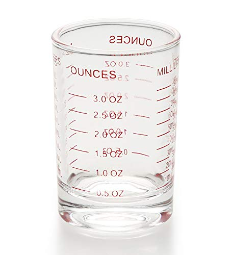 Shot Glass Measuring Cup 3 Ounce/90ML Liquid Heavy High Espresso Glass Cup