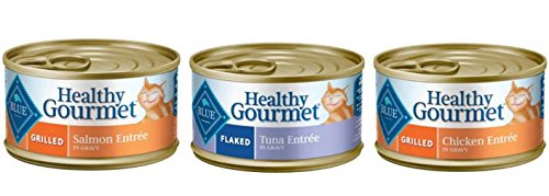 Blue Buffalo Healthy Gourmet Natural Food for Cats 3 Flavor