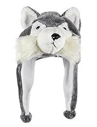 Bioterti Plush Fun Animal Hats –One Size Cap - 100% Polyester With Fleece Lining
