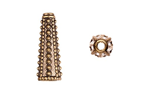 Serrated texture antique copper-plated beads cone 10.6x30mm fits 10.5-12.5mm beads Sold per pack of 4pcs (3pack bundle), SAVE $2