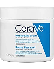 Cerave Fuktkräm | 454 g / 16 Oz | Daglig Ansikts-, Kropps- och Handfuktighetskräm för Omedelbar och Långvarig Fuktning