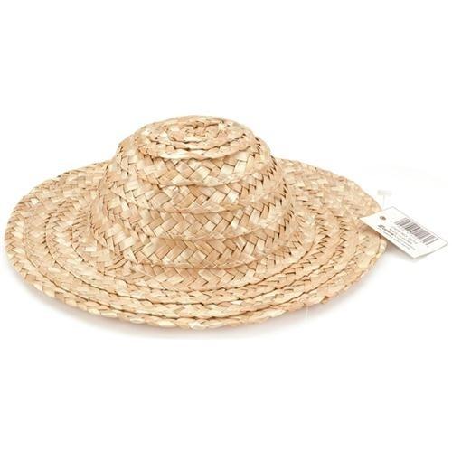 Darice–Plantilla para grabar Round Top sombrero de paja 18-inchnatural, otros, multicolor