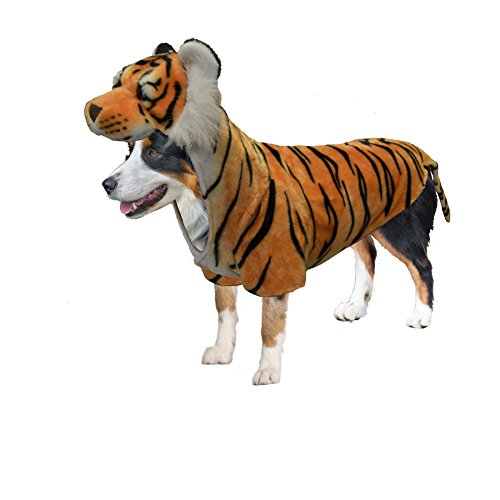 Amazing Pet Products Doggy Wannabe Comfy Creature Coats Costume Tiger -