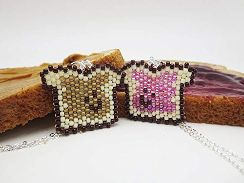 Peanut Butter and Jelly Matching Necklace Set For Best Friends