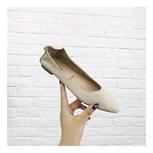 Bow Blando Redondo Fondo WULIFANG C Piso Guisantes Baja Wild Zapatos H5WpqWO