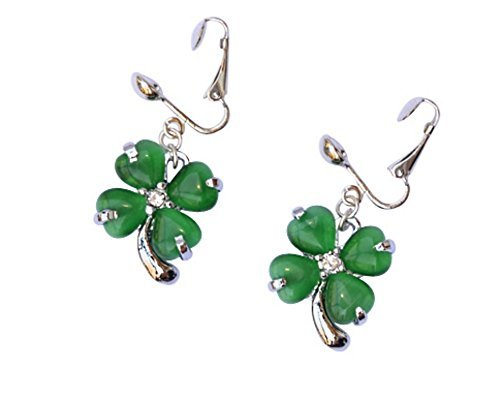 Patricks Leaf Clover Clip Earrings product image