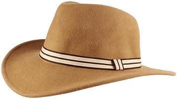 Morehats Men's Women's Unisex 100% Wool Large Up Brim Fedora with Ribbon Trim