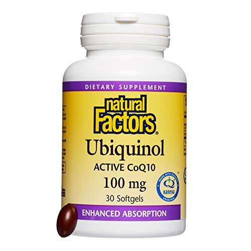 Natural Factors, Ubiquinol QH Active CoQ10 100 mg, Antioxidant Support for a Healthy Heart and Aging, 30 softgels (30 servings)