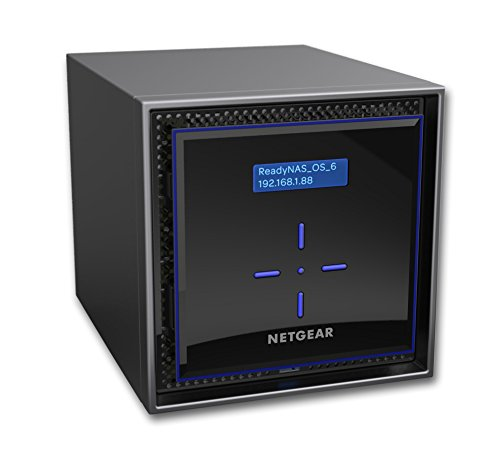 NETGEAR ReadyNAS RN424D4 4 Bay 16TB Desktop High Performance NAS, 40TB Capacity, Intel 1.5GHz Dual Core Processor, 2GB RAM, RN424D4-100NES