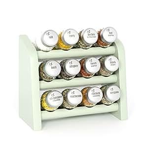 12 Spice Sage Green Finish Standing Hanging Shelf
