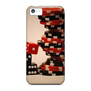 DrunkLove Protective Case For Iphone 5c(poker Chips)