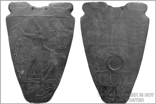 16x24 Poster; Narmer Palette Depicts The Unification Of The Two Lands. Ancient Egypt