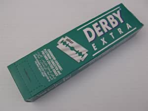 """Derby Extra"" Stainless Steel Double Edge Razor Blades"