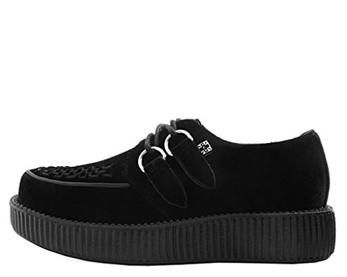 u T Shoes Viva Black Velvet Femmes k Low Creeper Noir da1rnaw