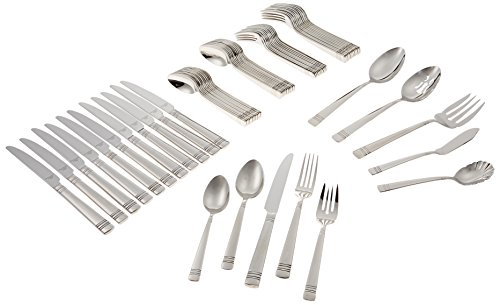 Reed & Barton Longwood II 65-Piece Stainless Flatware Set Service for 12 -