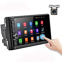 Android Car Radio Double Din Car Stereo with GPS 1080P 7 inch Touch Screen Bluetooth FM Receiver Support WiFi Connect…