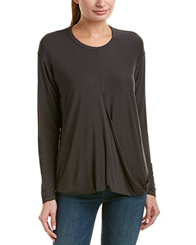 Lycra Stars - Michael Stars Women's Jersey Lycra Crew Neck Long Sleeve Top, Oxide, One Size