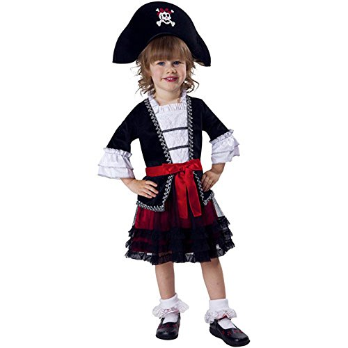 (Royal Pirate Princess Toddler Girl Costume Child Kid Dress Hat 3T-4T)