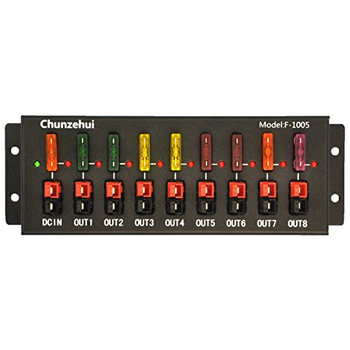 Chunzehui F-1005 9 Port 40A Connector Power Splitter Distributor Source Strip, 1 Input and 8 Output.