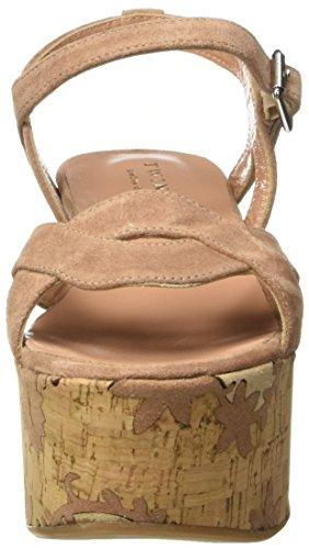 TWIN SET CS7TUS, Sandalias de Cuña Mujer Rosa (Nudo Scuro)