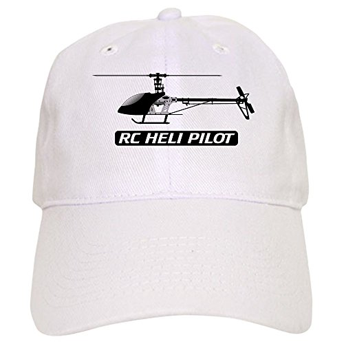 T-rex 450 Nitro - CafePress RC Heli Pilot Cap Baseball Cap with Adjustable Closure, Unique Printed Baseball Hat White