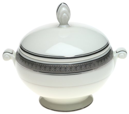 Mikasa Palatial Platinum Fine China Covered Sugar (Fine China Covered Sugar Bowl)