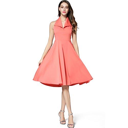 orange 50s dress - 8