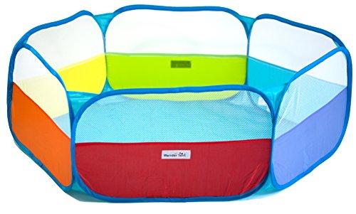 eWonderWorld Rainbow Hexagon Children Twist Playpen with Safety Meshing