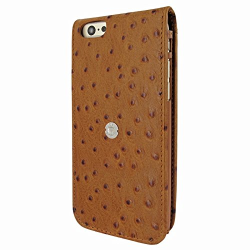 Piel Frama 689AV Etui rigide de protection design Ostrich pour iPhone 6 Plus Tan