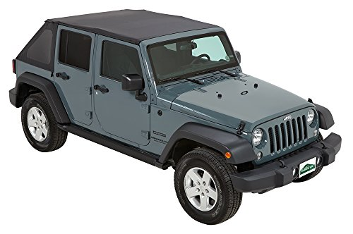Pavement Ends by Bestop 56843-35 Black Diamond Frameless Sprint Top for 2010-2017 Jeep Wrangler Unlimited