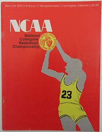 Florida Vs Fsu - 1972 NCAA FINAL FOUR Championship Program UCLA Champs vs. Florida State 142960