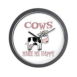CafePress - Cows - Unique Decorative 10 Wall Clock
