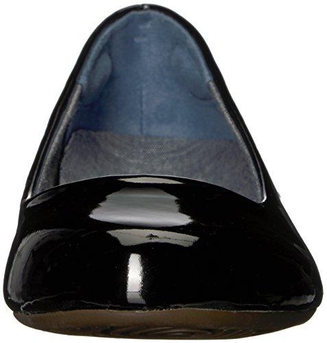 Dr. Scholls Shoes Womens Friendly2 Ballet Flat Black Patent